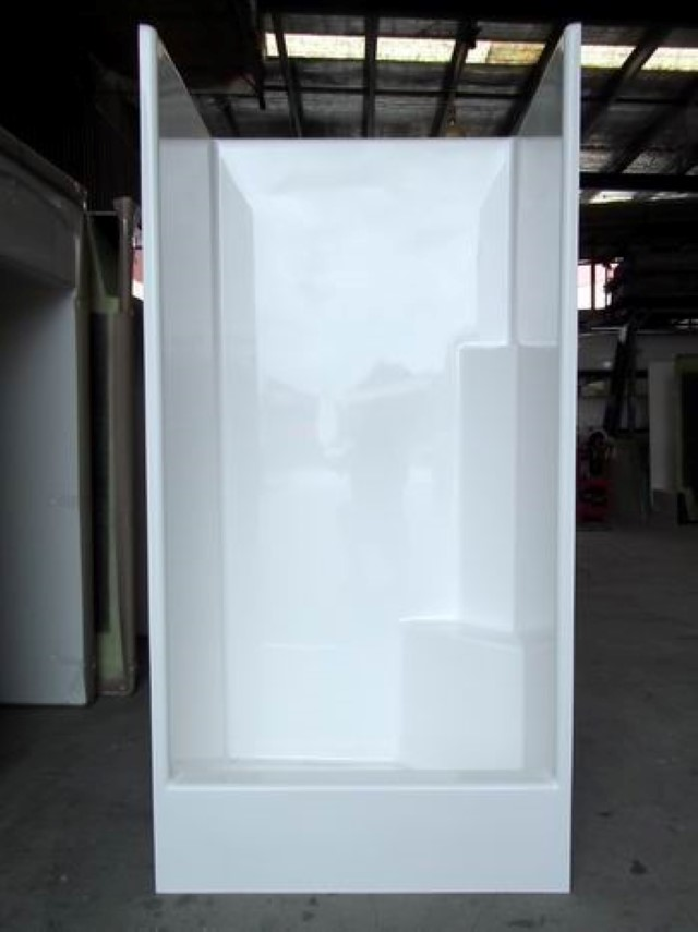 900mm x 760mm High Front Shower Cubicle - Beachmere Fibreglass