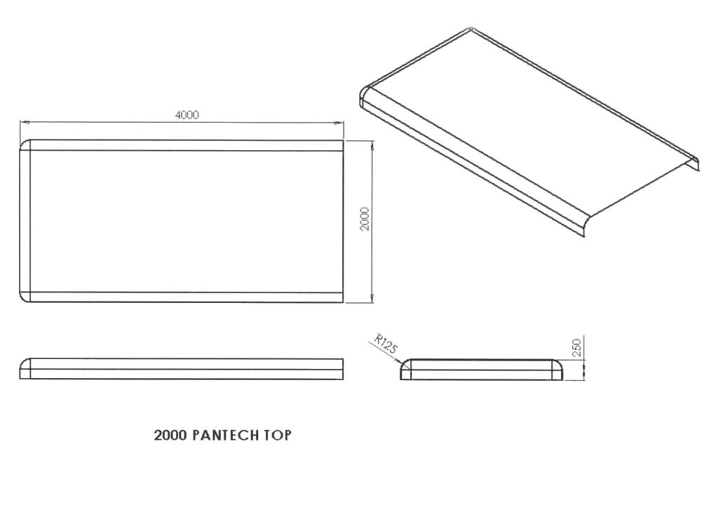 2000mm Pantech / Angle Load / Gooseneck Roof - Beachmere